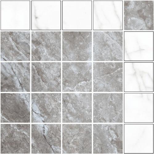Мозаика керамическая Kerranova Black&White White/Белый K-60/NR(LR)/m14 30,7x30,7