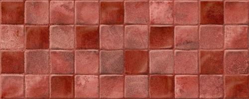 Керамическая плитка для стен Keros Mayolica Decorado Burdeos 20x50