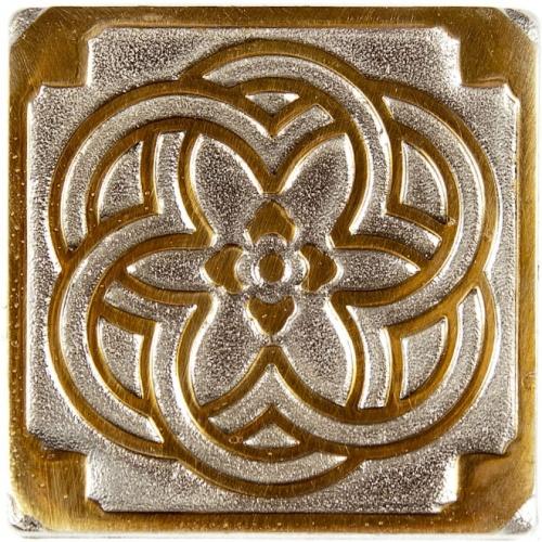 Вставка из бронзы с биметаллическим эффектом Kavarti Zircon Kaleidoscope 7,5x7,5