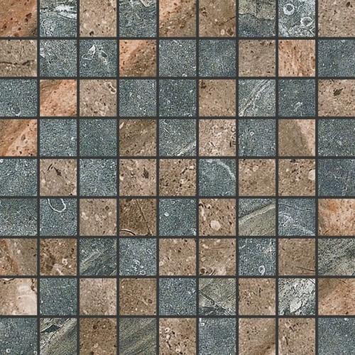 Мозаика керамическая Kerranova Genesis Brown/Dark Grey K-105(108)/SR/m01 Structure 30x30
