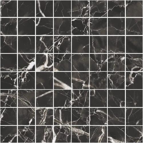 Мозаика керамическая Kerranova Black&White Black/Черный K-61/LR/m01 Lapatto 30x30
