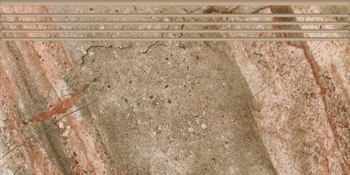 Ступень керамическая Kerranova Genesis Brown/Коричневый K-105/SR/ST01 Structure 29,4x60