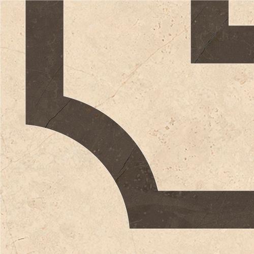 Декор напольный Kerranova Crema Marfil Beige/Бежевый Тако K-1003/LR/t02 10x10
