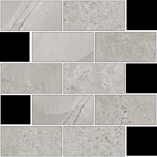 Мозаика керамическая Kerranova Limestone Grey/Серый K-1005/LR/m13 Full Body Lappato 30,7x30,7
