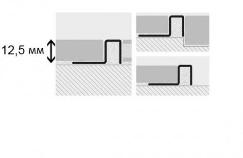 Профиль латунный Progress Profiles Profinal Cromato хромированный 8x12,5x2700