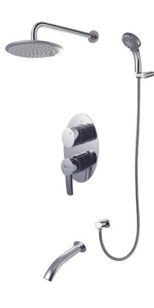 Смеситель Lemark Atlantiss LM3222C для ванны и душа, встраиваемый