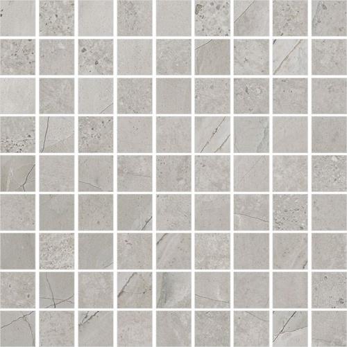 Мозаика керамическая Kerranova Limestone Grey/Серый K-1005/LR/m01 Full Body Lappato 30x30