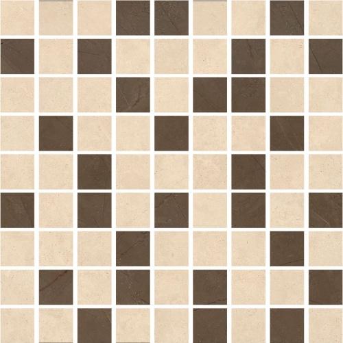 Мозаика керамическая Kerranova Crema Marfil Beige/Pulpis Brown К-1003(1002)/LR(MR)/m22 Lap/Mat 30x30