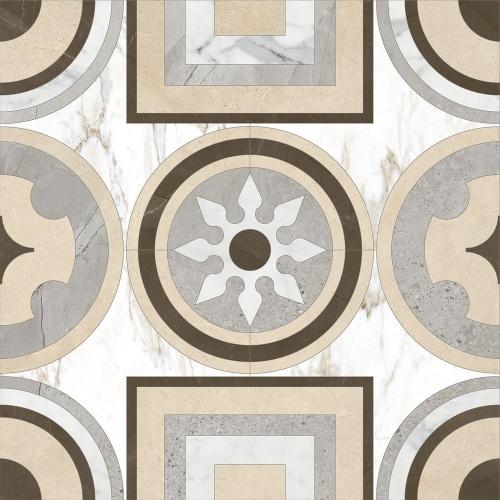 Декор напольный Kerranova Marble Trend Decor Сut  White/Белый  K-1001/LR/d02 Lapatto 60x60