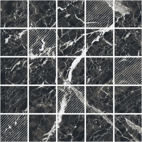 Мозаика керамическая Kerranova Black&White Black/Черный K-61/CR(LR)/m14 30,7x30,7