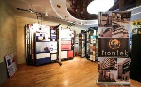 Фасадные керамические панели Frontek. Круглый стол в Самаре