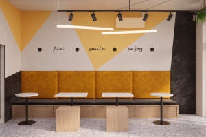 Проект кафе с коллекцией Kerranova Terrazzo_2
