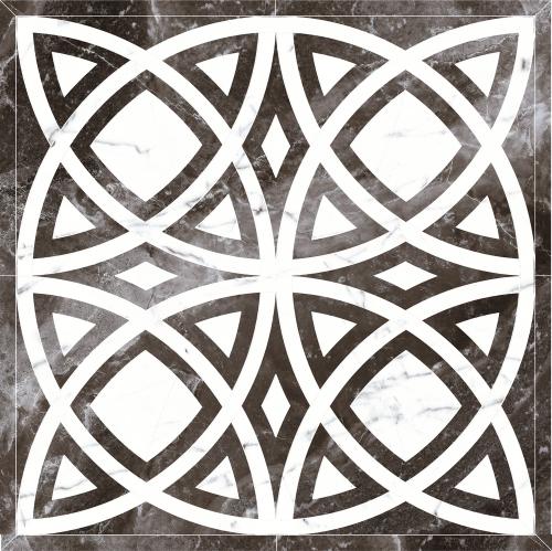 Декор напольный Kerranova Black&White Decor Cut Black/Черный K-61/LR/d01 Lapatto 120x120