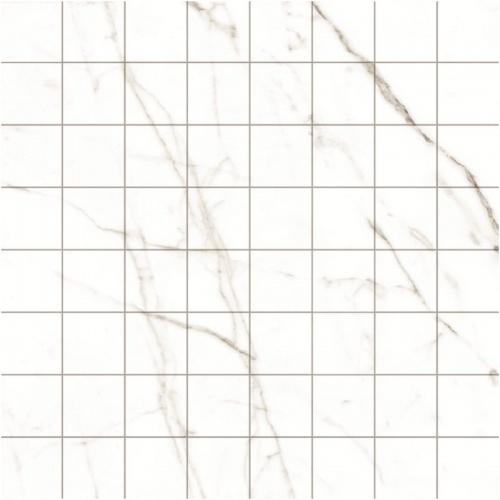 Мозаика керамическая Kerranova Black&White White/Белый K-60/LR/m01 Lapatto 30x30