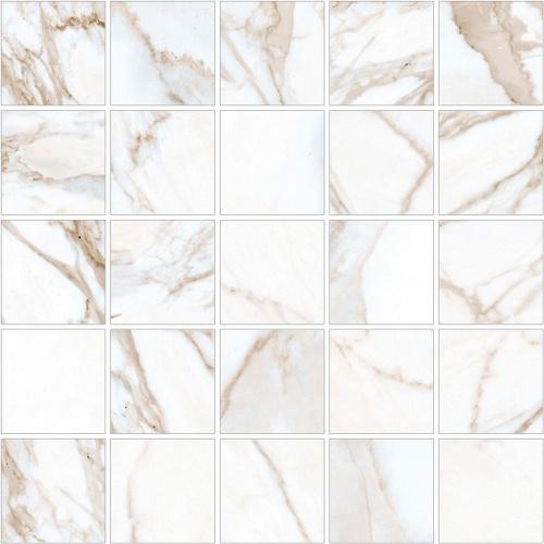 Мозаика керамическая Kerranova Calacatta Gold White/Белый K-1001/MR/m14 Matt 30,7x30,7